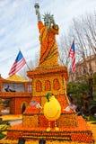 Festival del limone (Fete du Citron), Menton, Francia fotografia stock libera da diritti
