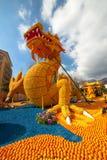 Festival del limone (Fete du Citron) sul Riviera francese immagine stock libera da diritti