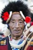 Festival del Nagaland, India del bucero fotografia stock