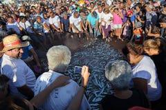 Festival del pesce in Quarteira, Portogallo immagini stock
