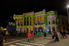 Festival 2017 del proyector foto de archivo