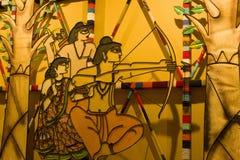Festival del puja de Durga en Calcutta en espolón del India-señor Imagen de archivo