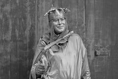Festival del re Statue Mime At Edinburgh immagini stock libere da diritti