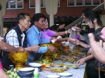 Festival del tatuaggio allo scoppio Phra di Wat in Nakhon Chaisi, Fotografia Stock Libera da Diritti