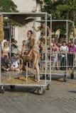 Festival del teatro de la calle en Kraków Fotografía de archivo libre de regalías