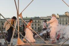 Festival del teatro della via a Cracovia 2018 Immagini Stock Libere da Diritti