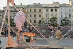 Festival del teatro della via a Cracovia 2018 Immagini Stock