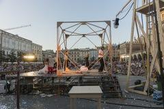 Festival del teatro della via a Cracovia 2018 Fotografie Stock Libere da Diritti