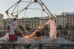Festival del teatro della via a Cracovia 2018 Immagine Stock