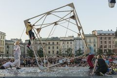Festival del teatro della via a Cracovia 2018 Immagine Stock Libera da Diritti