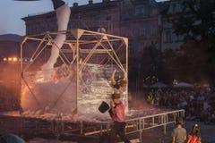 Festival del teatro della via a Cracovia 2018 Fotografia Stock Libera da Diritti