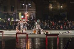 Festival del teatro della via a Cracovia Fotografia Stock
