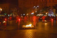 Festival del teatro della via a Cracovia Fotografie Stock