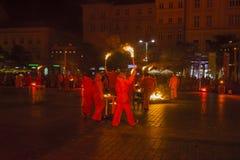 Festival del teatro della via a Cracovia Immagini Stock