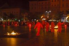 Festival del teatro della via a Cracovia Immagini Stock Libere da Diritti