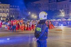 Festival del teatro della via a Cracovia Immagine Stock