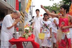 Festival del vegetariano de Phuket fotos de archivo libres de regalías