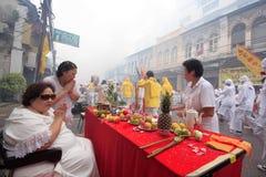 Festival del vegetariano de Phuket fotografía de archivo libre de regalías