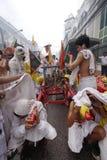 Festival del vegetariano de Phuket fotos de archivo