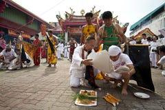 Festival del vegetariano de Phuket Tailandia Foto de archivo libre de regalías