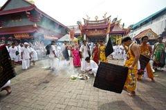 Festival del vegetariano de Phuket Tailandia Imágenes de archivo libres de regalías