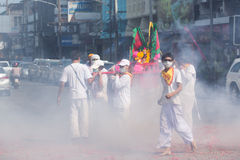 Festival del vegetariano de Surat Thani Fotografía de archivo libre de regalías
