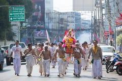 Festival del vegetariano de Surat Thani Imágenes de archivo libres de regalías