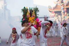 Festival del vegetariano de Surat Thani Imagen de archivo