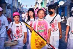 Festival del vegetariano di Phuket fotografia stock