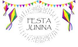 Festival del verano de Festa Junina del carnaval Imagenes de archivo