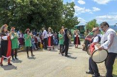 Festival del villaggio in Tserova Koria fotografia stock libera da diritti
