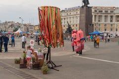Festival dell'alimento di Primorsky al quadrato centrale Immagini Stock Libere da Diritti