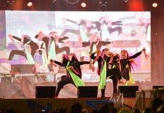 Festival dell'internazionale della maschera di manifestazione di ballo del Laos immagine stock libera da diritti