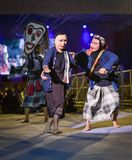 Festival dell'internazionale della maschera di manifestazione di ballo del Laos fotografie stock libere da diritti