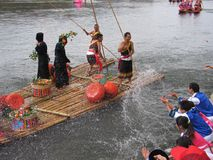 Festival della barca del drago in Guizhou Huishui Immagine Stock Libera da Diritti