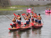 Festival della barca del drago in Guizhou Huishui Fotografie Stock