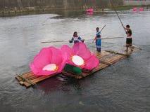 Festival della barca del drago in Guizhou Huishui Immagini Stock Libere da Diritti