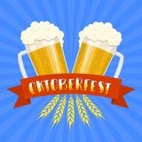 Festival della birra di Oktoberfest Illustrazione di colore Fotografia Stock