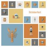 Festival della birra di Oktoberfest Illustrazione di colore Fotografia Stock Libera da Diritti