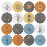 Festival della birra di Oktoberfest Illustrazione di colore Immagini Stock Libere da Diritti