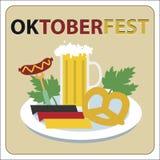 Festival della birra di Oktoberfest Illustrazione di colore Illustrazione di Stock