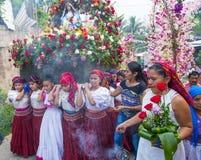 Festival della palma & del fiore in Panchimalco, El Salvador Immagini Stock Libere da Diritti