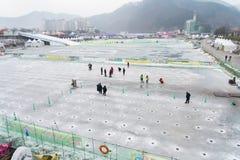 Festival della pesca sul ghiaccio di Hwacheon Immagini Stock Libere da Diritti