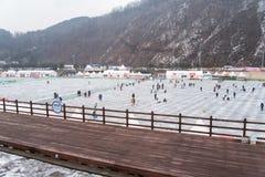 Festival della pesca sul ghiaccio di Hwacheon Fotografia Stock Libera da Diritti