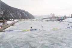 Festival della pesca sul ghiaccio di Hwacheon Fotografie Stock