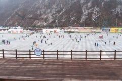 Festival della pesca sul ghiaccio di Hwacheon Immagine Stock Libera da Diritti