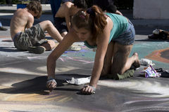 Festival della pittura Immagini Stock Libere da Diritti