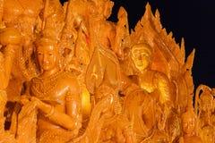 Festival della Tailandia della statua della cera Fotografia Stock Libera da Diritti