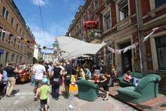 Festival della via, Repubblica Neustadt, Dresda, 2013 di parte concavo Fotografia Stock