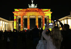 Festival delle luci Berlino Fotografie Stock Libere da Diritti